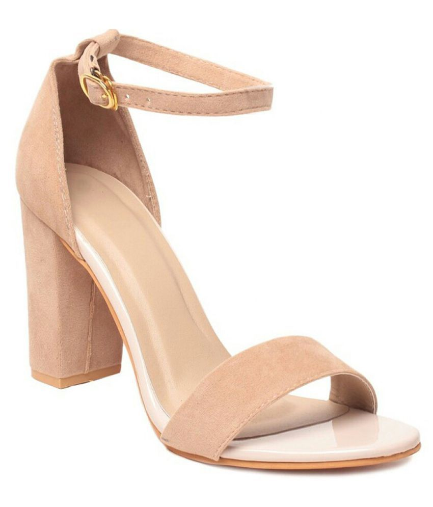 7c3fe82e443 Studio 9 Beige Block Heels Price in India- Buy Studio 9 Beige Block Heels  Online at Snapdeal
