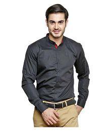 N&CM Black Casuals Slim Fit Shirt