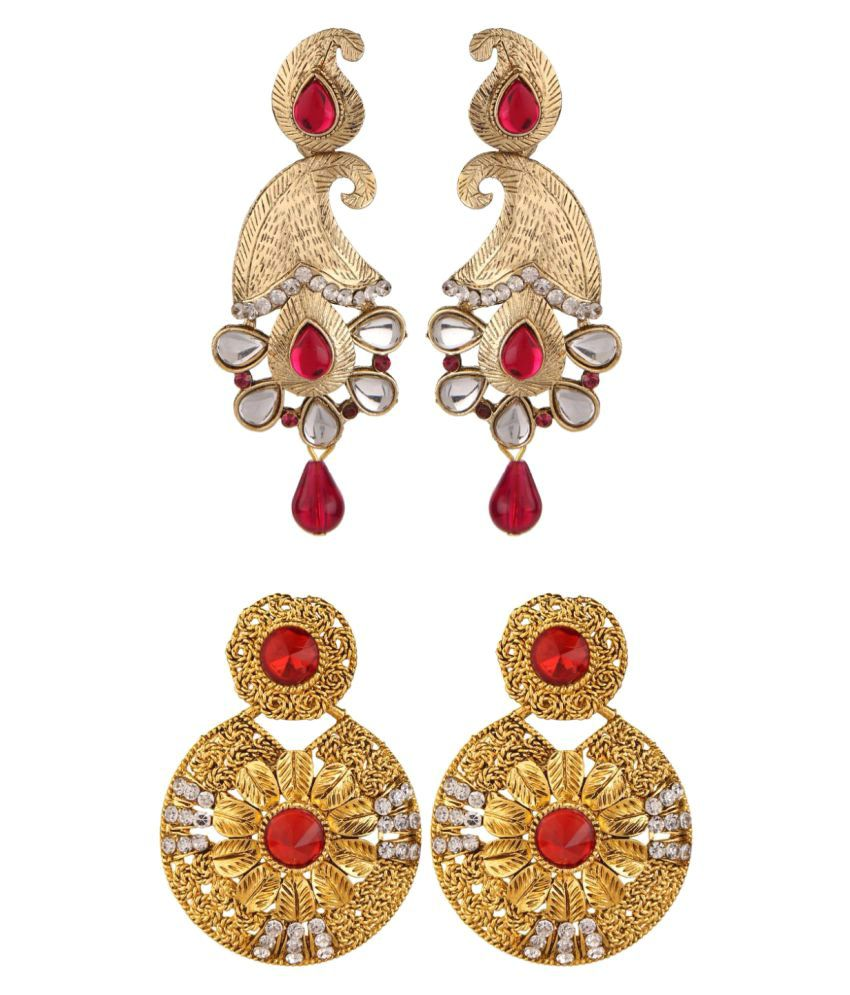 Archi Collection Combo of Party Wear Earrings for Women (Pair of 2)