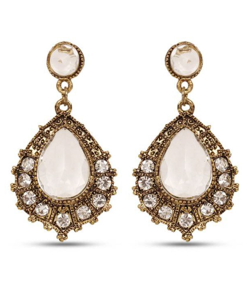 Hi Look Traditional Earrings With Stone