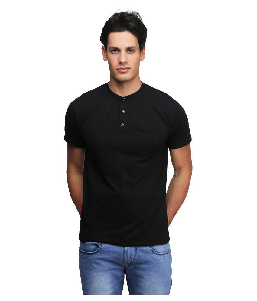 Be-Beu Black Henley T-Shirt