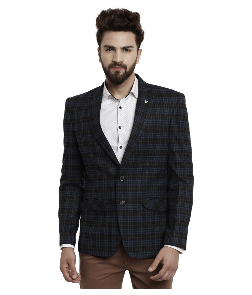 Canary London Black Solid Casual Blazers