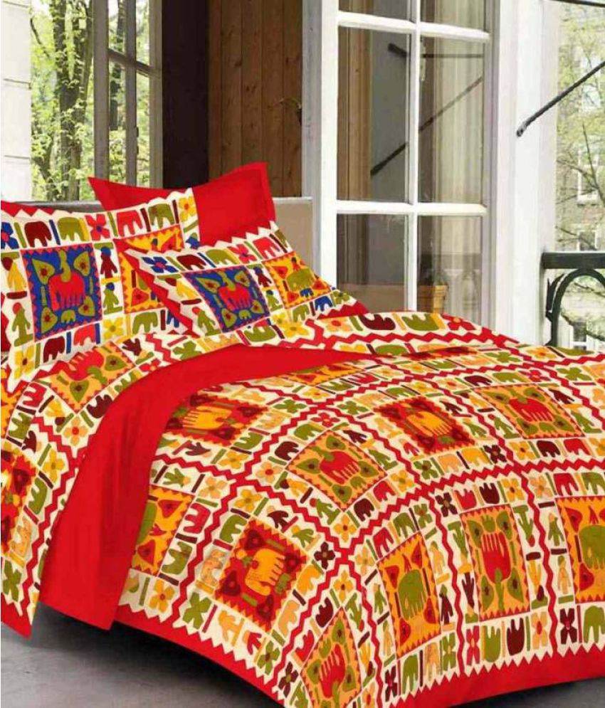 d36e4041390 Rajasthani Bedsheet Double Cotton Multicolor Abstract Bed Sheet - Buy Rajasthani  Bedsheet Double Cotton Multicolor Abstract Bed Sheet Online at Low Price in  ...