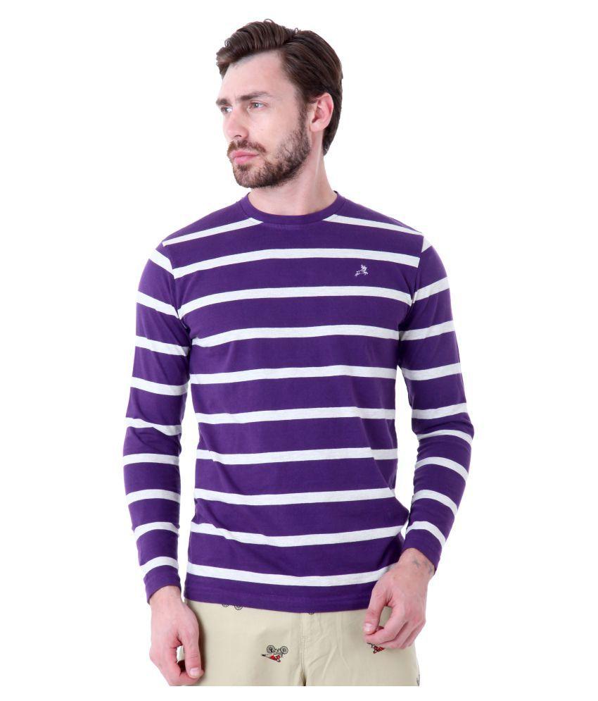 Roman Island Purple Round T-Shirt