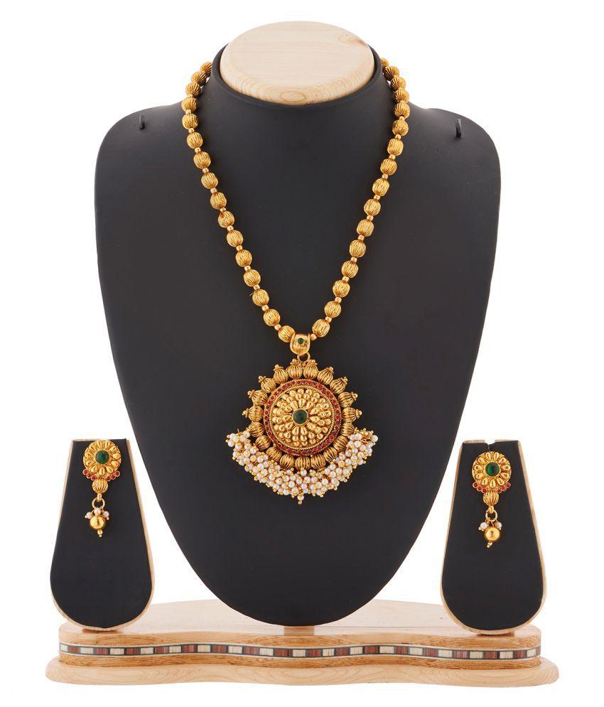 Rg Fashions Golden Necklaces Set