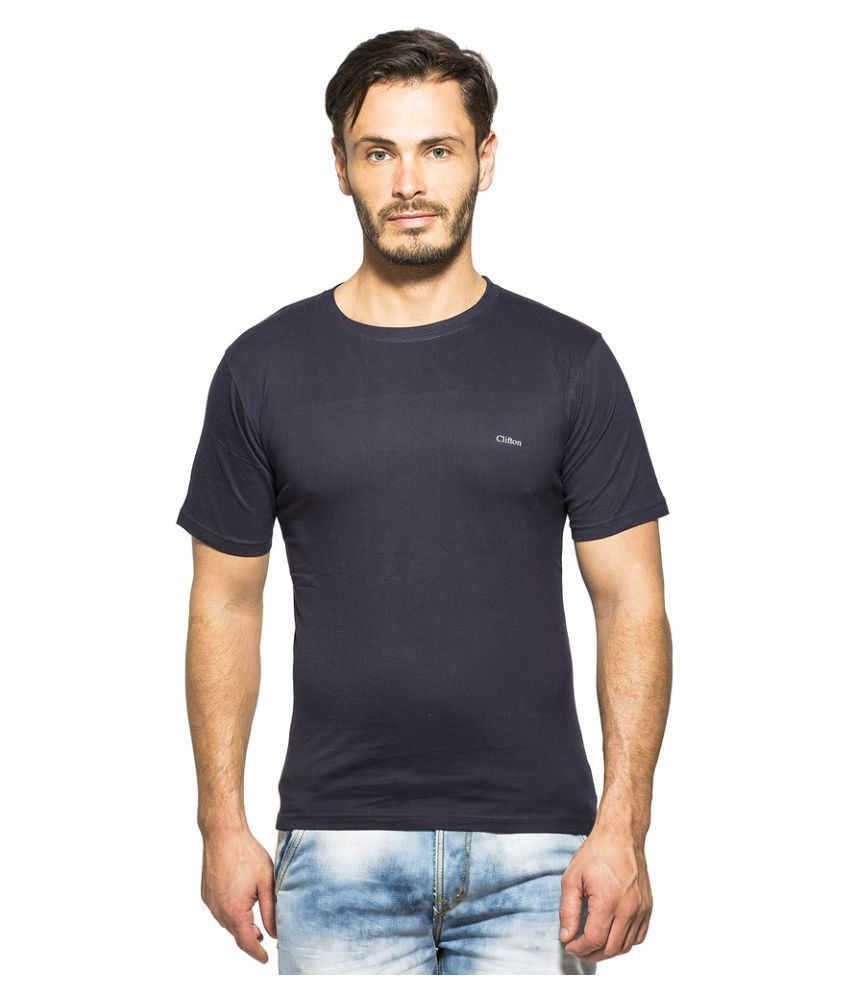 Clifton Navy Round T-Shirt