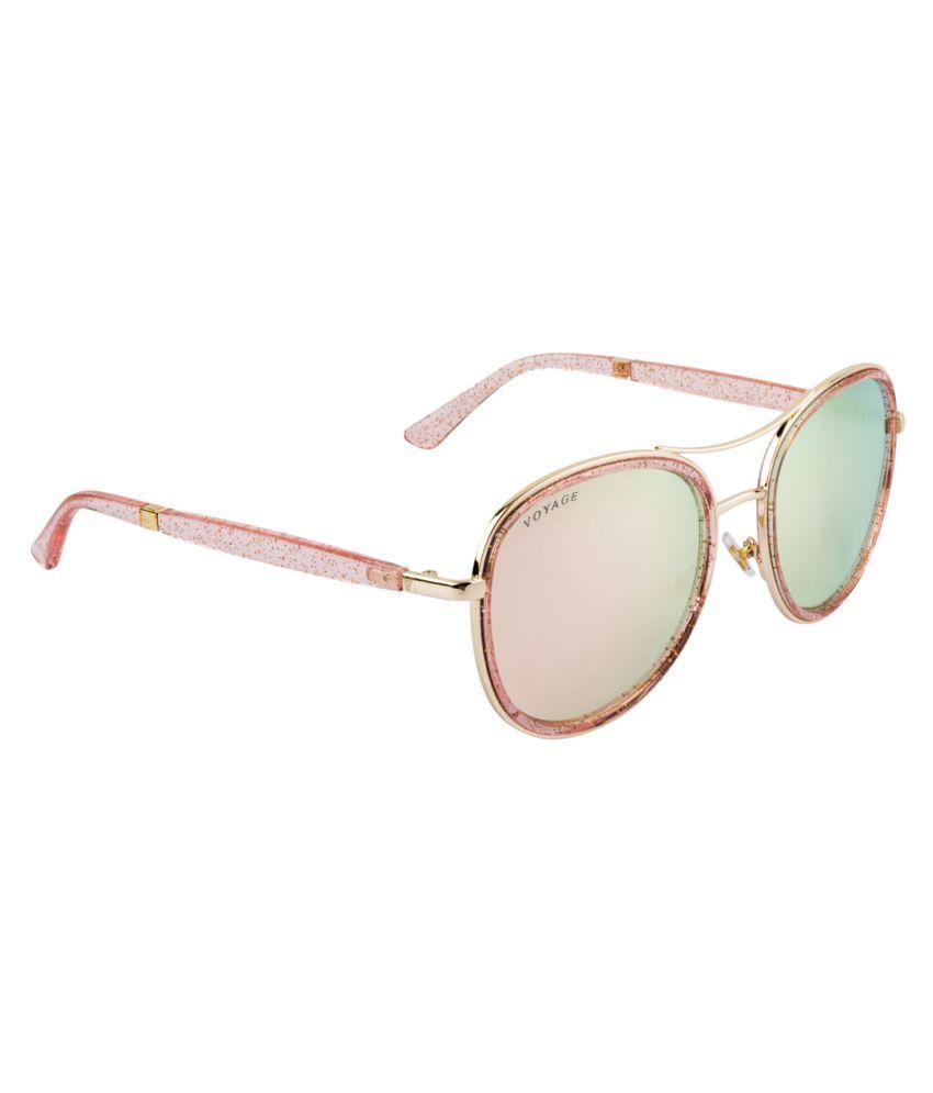 Voyage Pink Aviator Sunglasses ( 1006MG1947 )