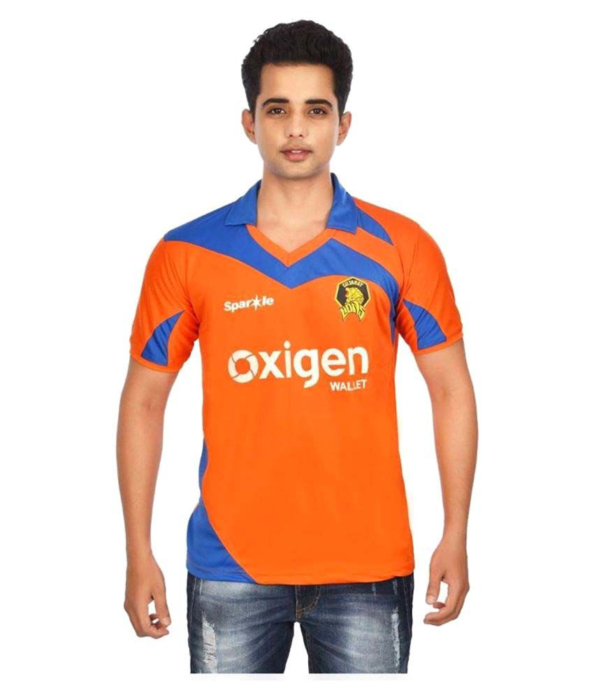 Focil Orange Polyester Polo T-Shirt Single Pack