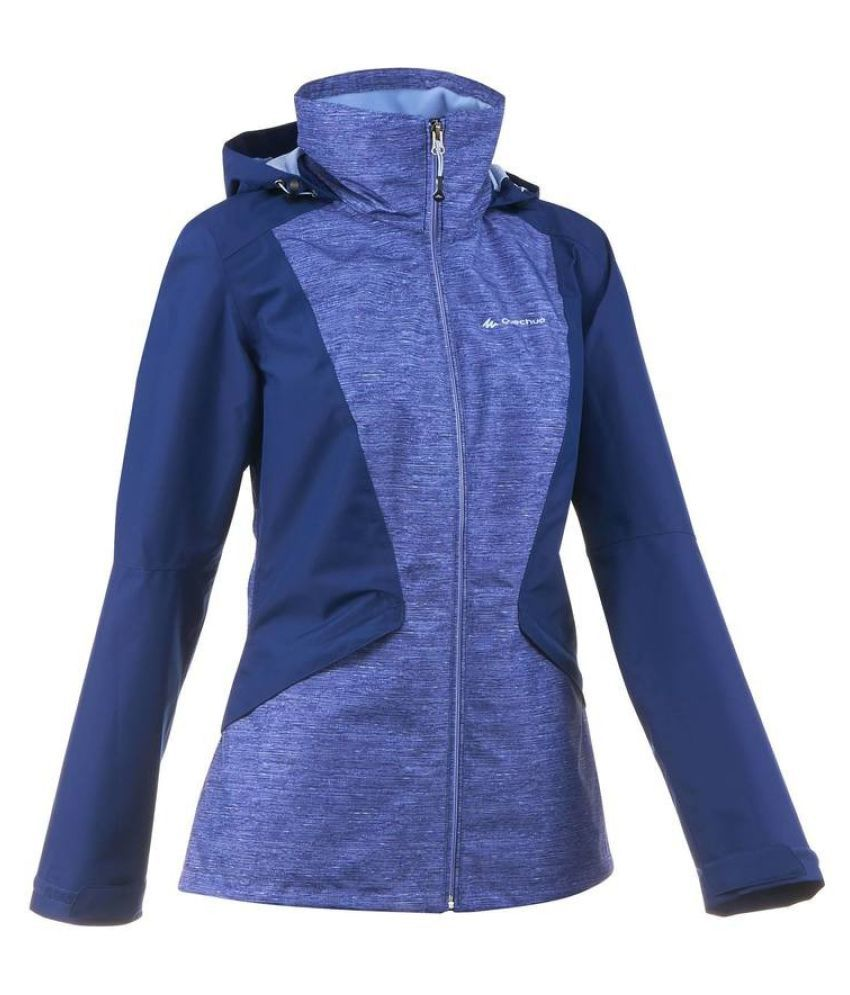Quechua Blue Waterproof Hiking Jacket