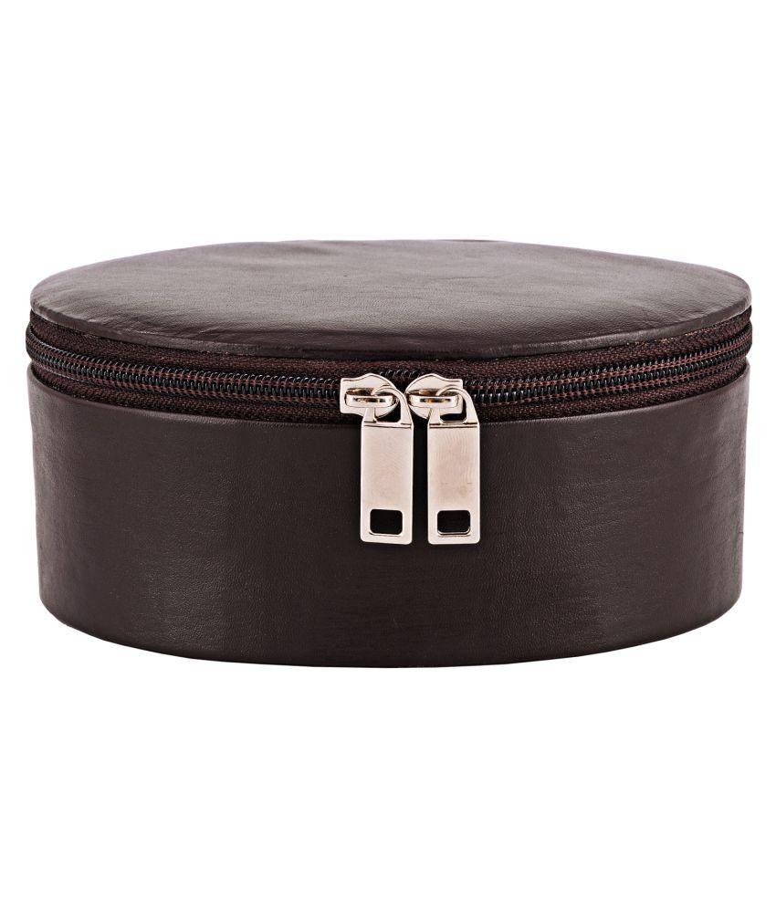 Zint Brown Leather Jewellery Box