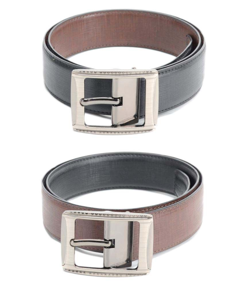Calvadoss Black PU Formal Belts
