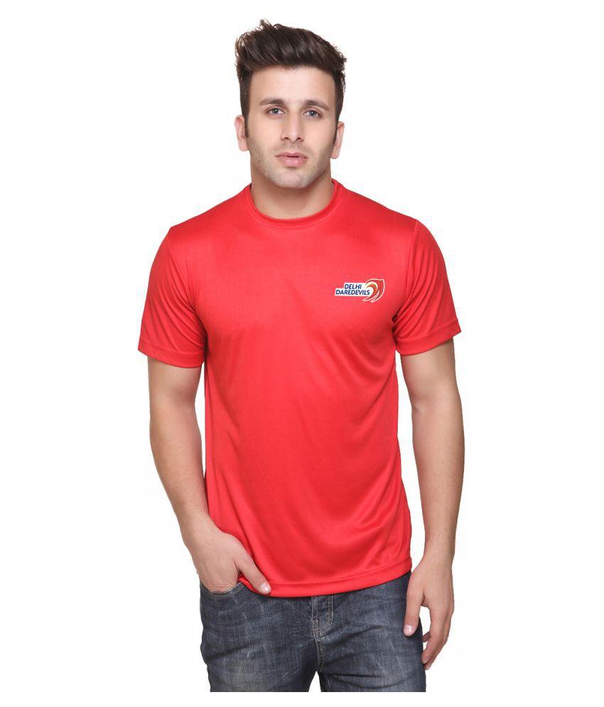 Delhi Daredevils Red Round T-Shirt
