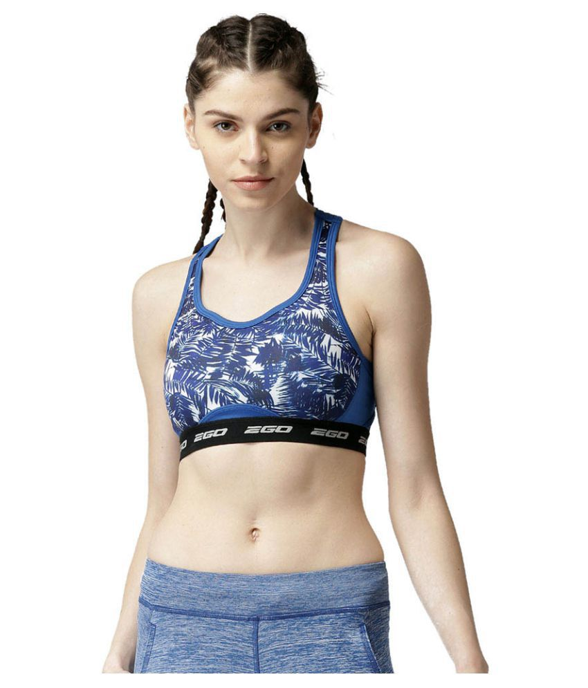 2GO Electric Blue Superior Workout Padded Sports Bra