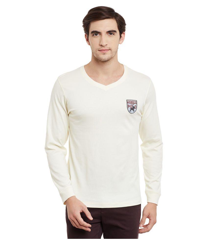 Mode Vetements Off-White V-Neck T-Shirt