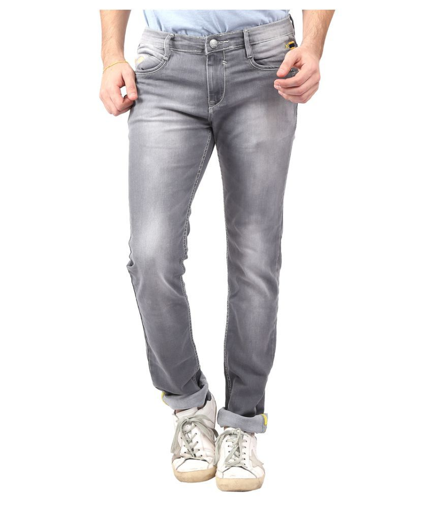 a944aeaf Nostrum Jeans Grey Slim Jeans - Buy Nostrum Jeans Grey Slim Jeans Online at  Best Prices in India on Snapdeal