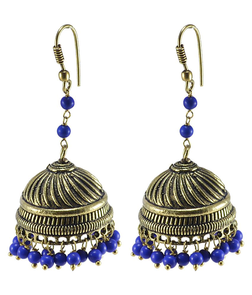 Silvesto India Indian Traditional Party Wear Jhumki Earrings