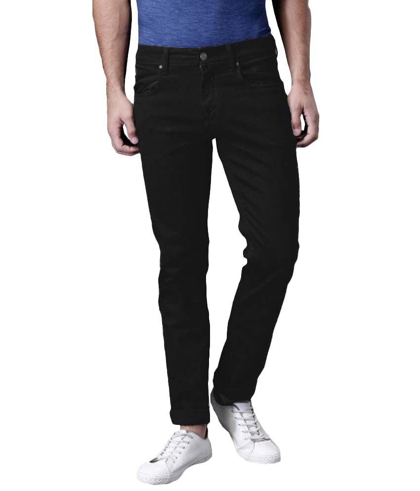 Ansh Fashion Wear Black Regular Fit Jeans