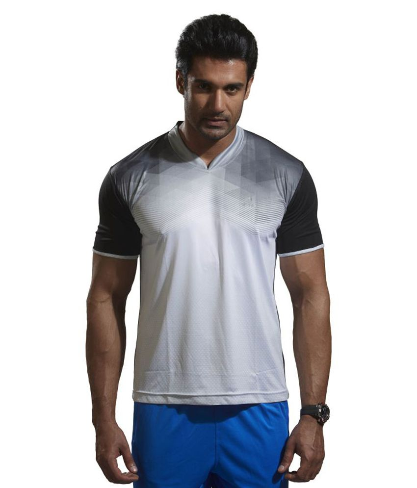 Omtex Black Polyester Active Wear T-Shirt