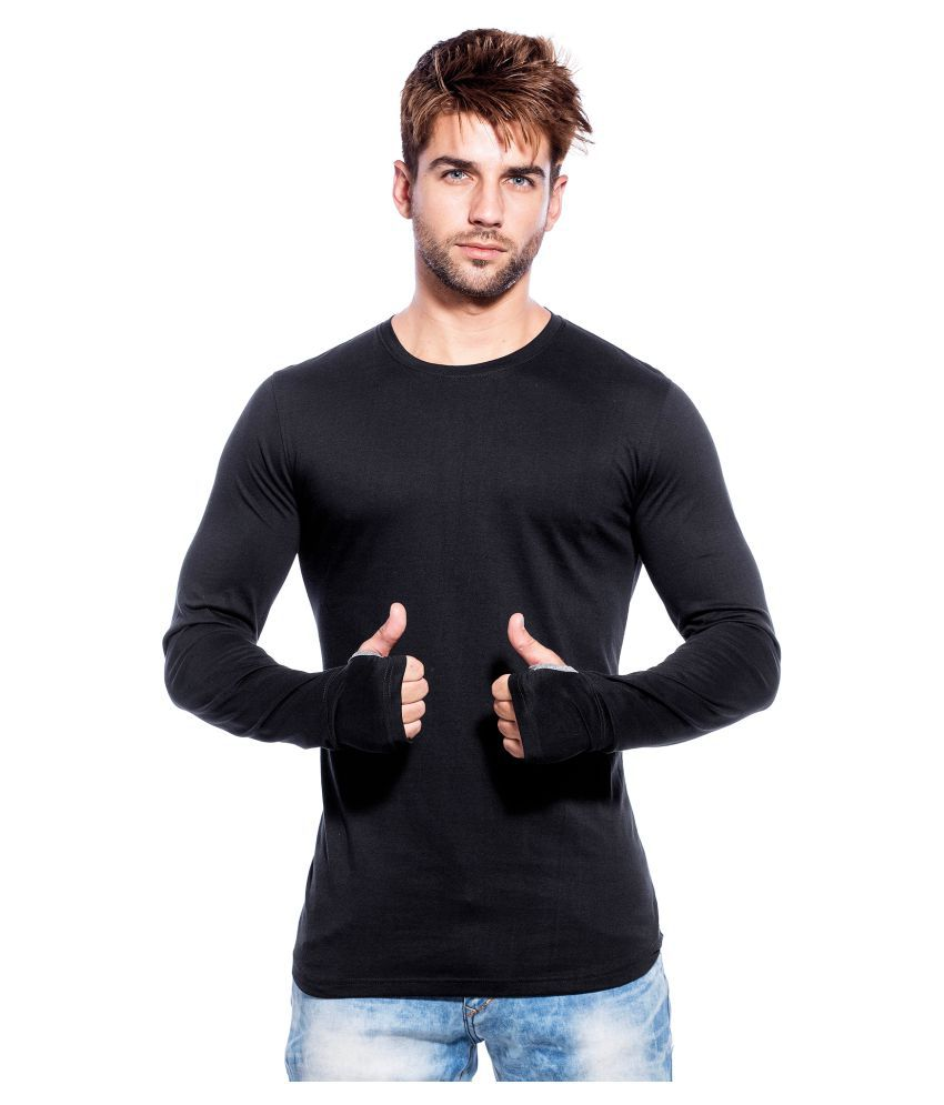 Black t shirt buy online - Maniac Black Round T Shirt