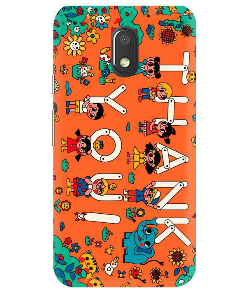 Moto E3 Printed Cover By Knotyy