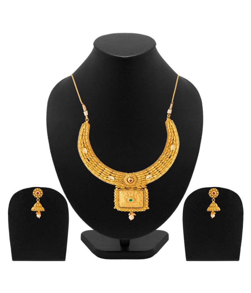 Navrang Studded With Kundan Necklace Set For Women