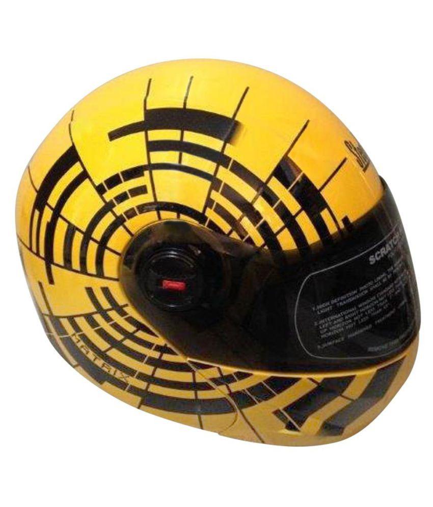 7a73adae Steelbird Oscar Matrix With Plain Visor Flip Up Helmet - Yellow L: Buy Steelbird  Oscar Matrix With Plain Visor Flip Up Helmet - Yellow L Online at Low Price  ...