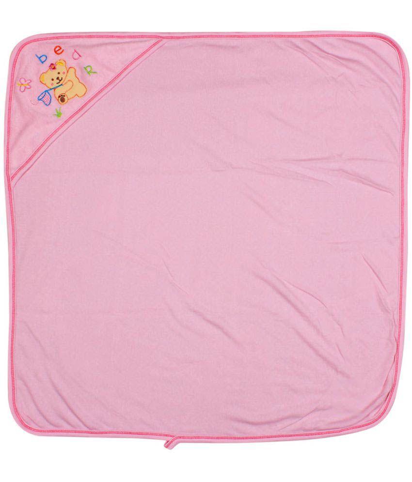 Ole Baby Pink Cotton Bath Towels Baby Blanket/Baby Swaddle/Baby Sleeping Bag