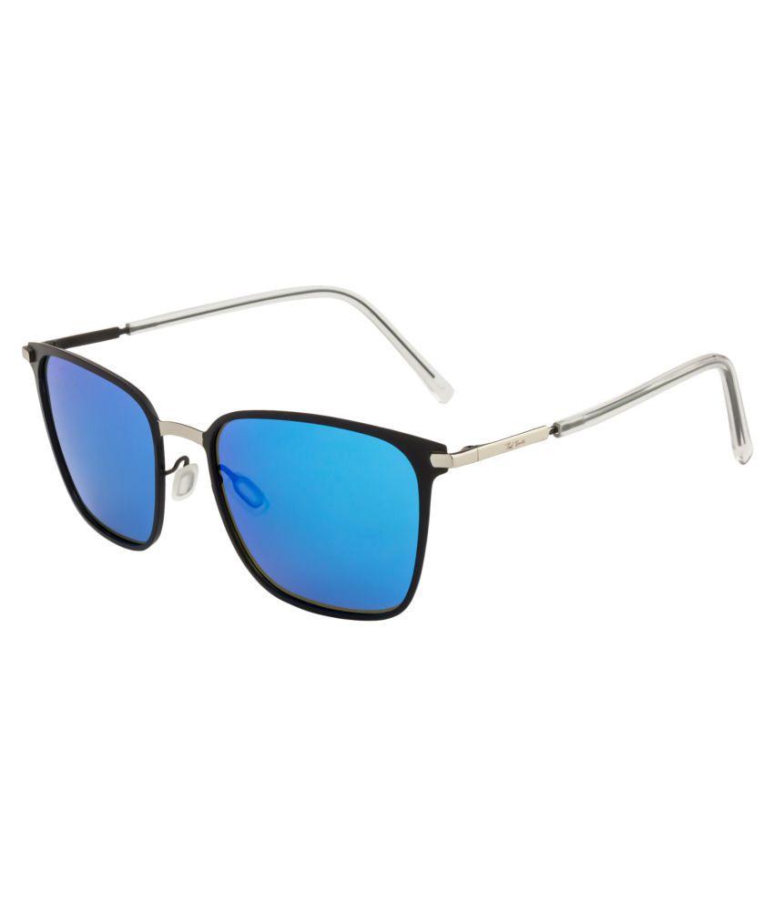 Ted Smith Blue Wayfarer Sunglasses ( P0864 )