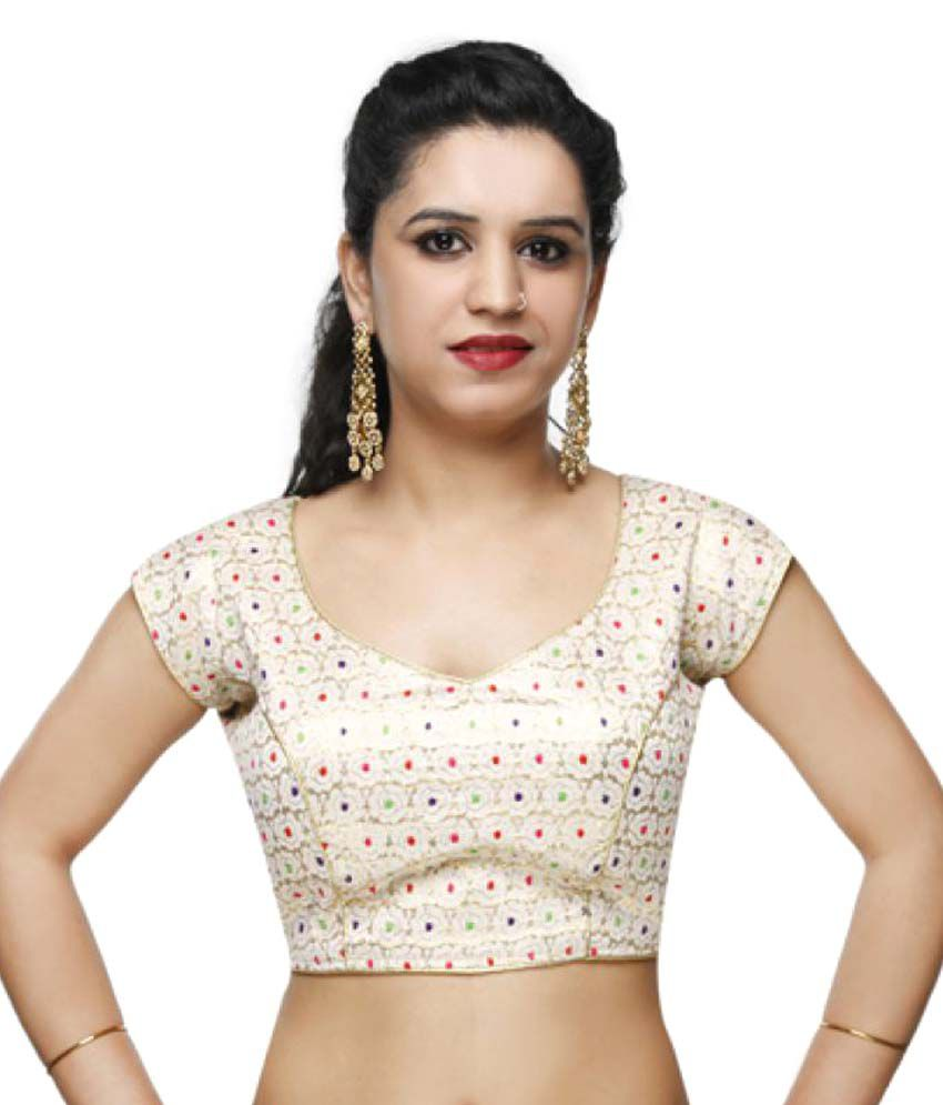 Lady In Style Beige Round Shape With Dori Blouse