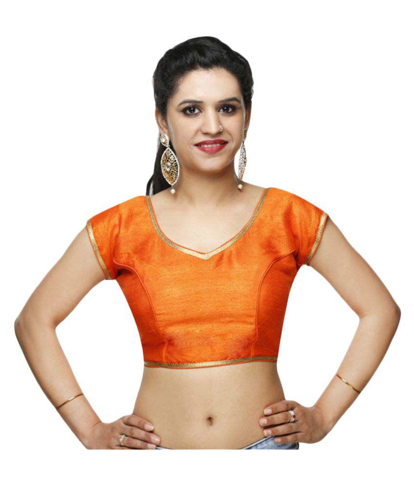 Lady in Style Orange Round Shape With Dori Blouse