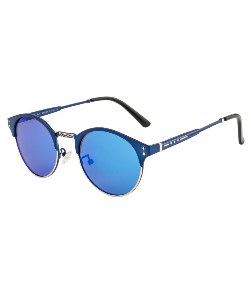 Ted Smith Blue Round Sunglasses ( TS-A295 )