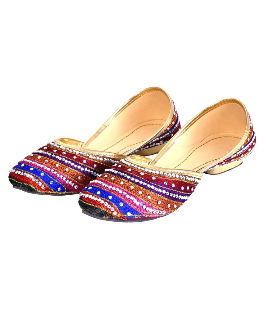 Deal Done Multi Color Block Ethnic Footwear