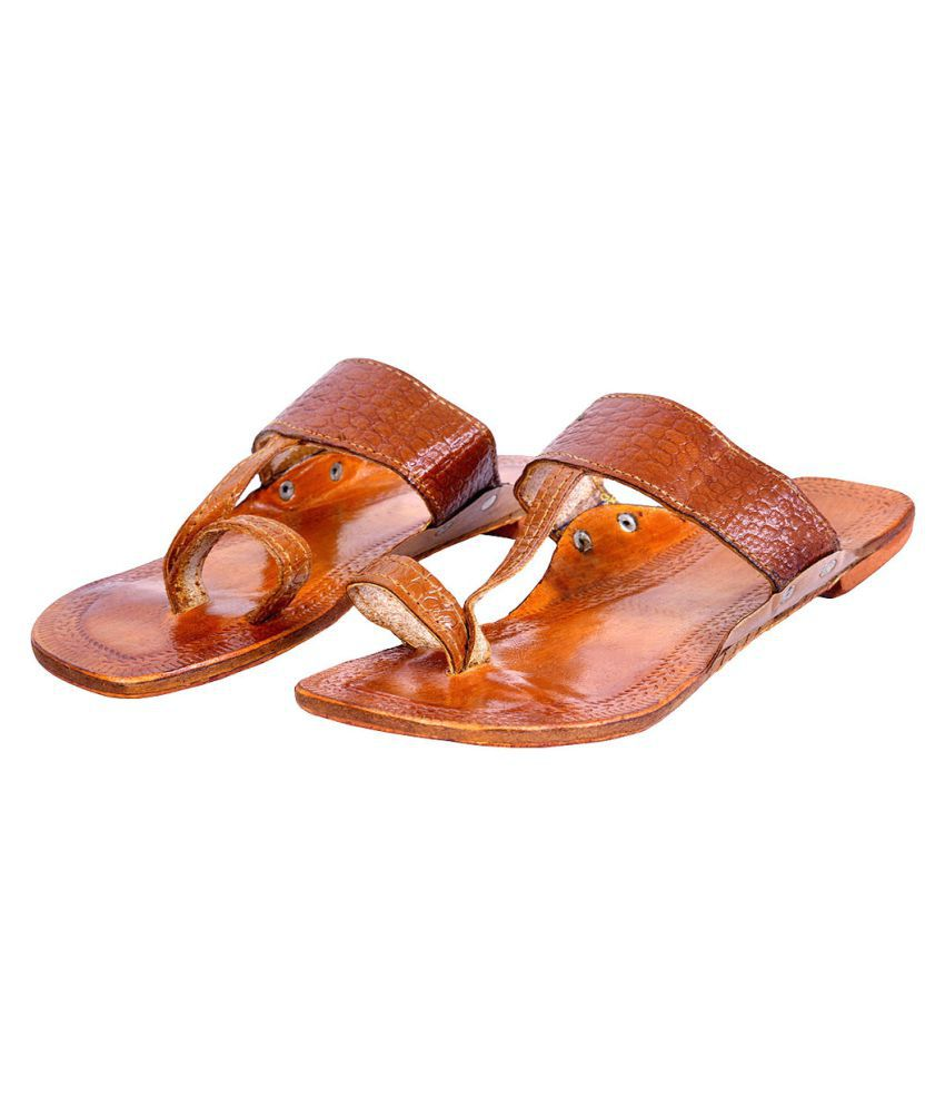 Deal Done Brown Flat Ethnic Footwear