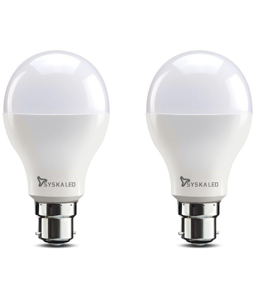 Syska 20W LED Bulbs Cool Day Light - Pack of 2
