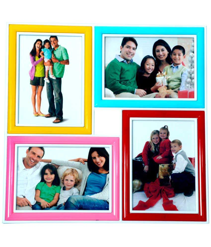 Archies Collage Frames Plastic Wall Hanging Multicolour Collage Photo Frame - Pack of 1