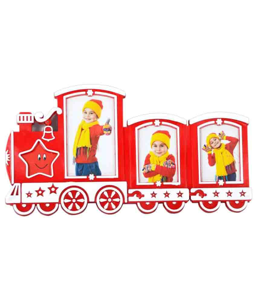 Archies Collage Frames Plastic Wall Hanging Red Collage Photo Frame - Pack of 1