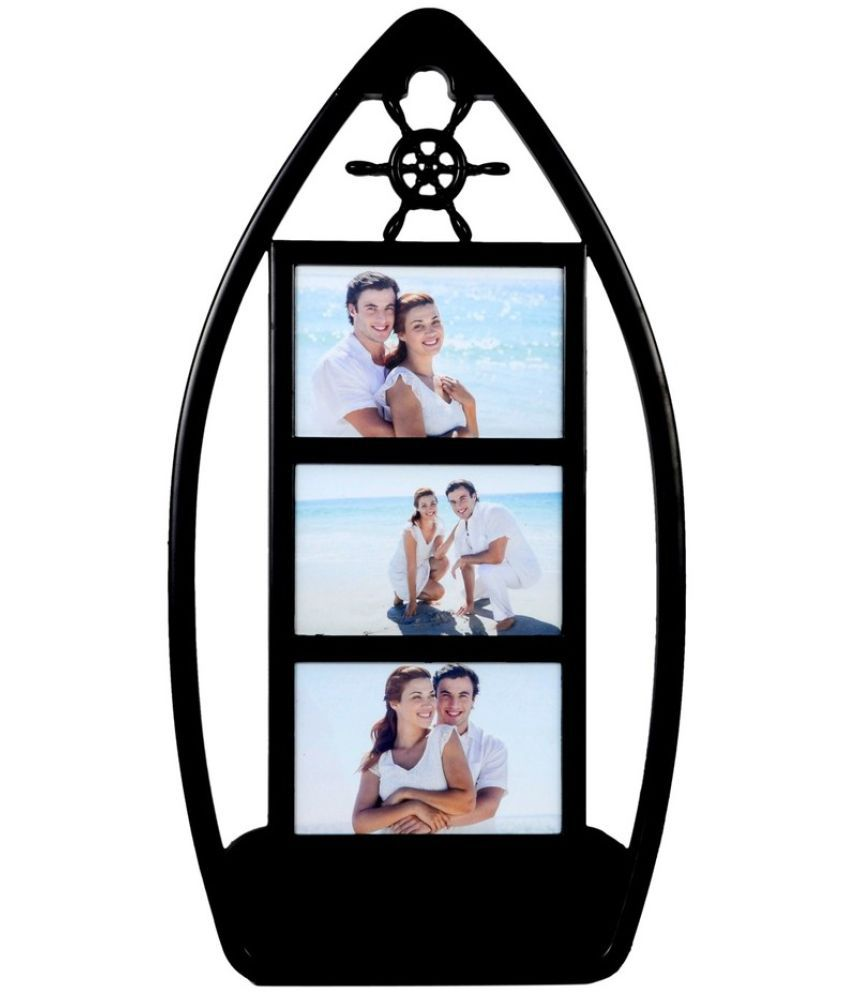 Archies Collage Frames Plastic Wall Hanging Black Collage Photo Frame - Pack of 1