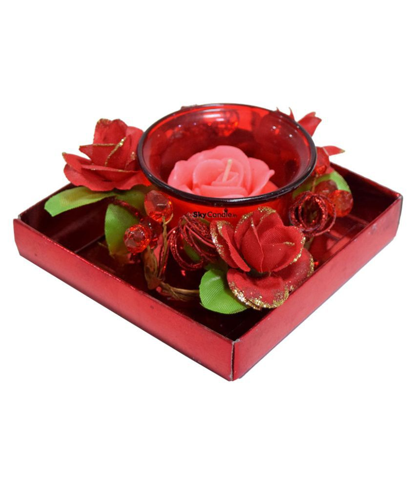 Skycandle Red Votive Candle - Pack of 1