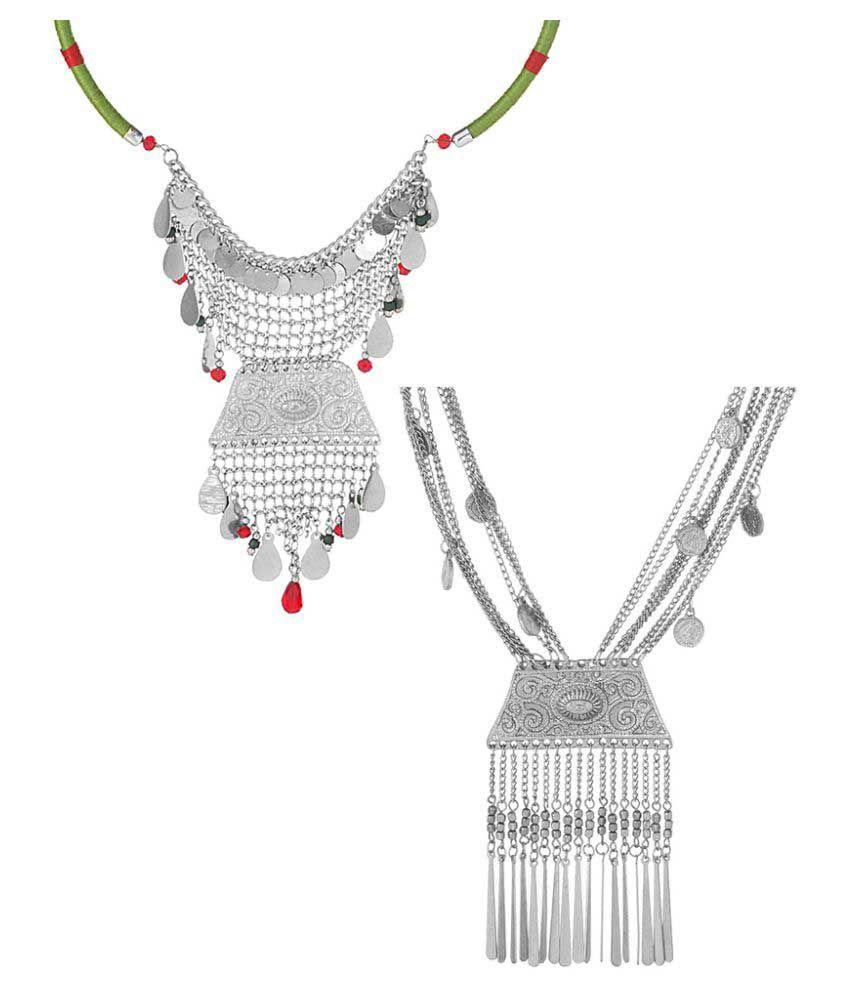 Voylla Multicolor Aloy Necklaces Set Combo