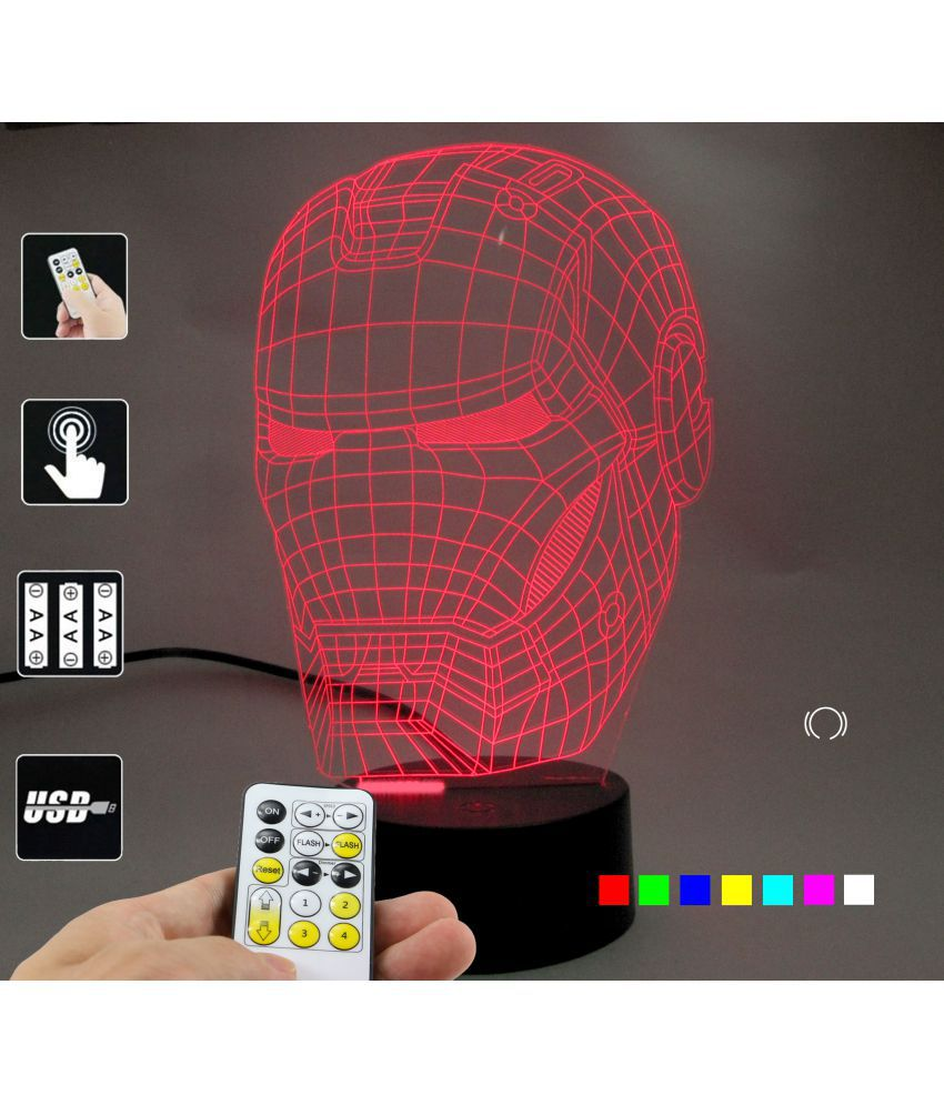 Multi Illusion Lamp Ironman Crafts 1 3d Led Mask Varna Of Lampees Pack Night XkOuPZi