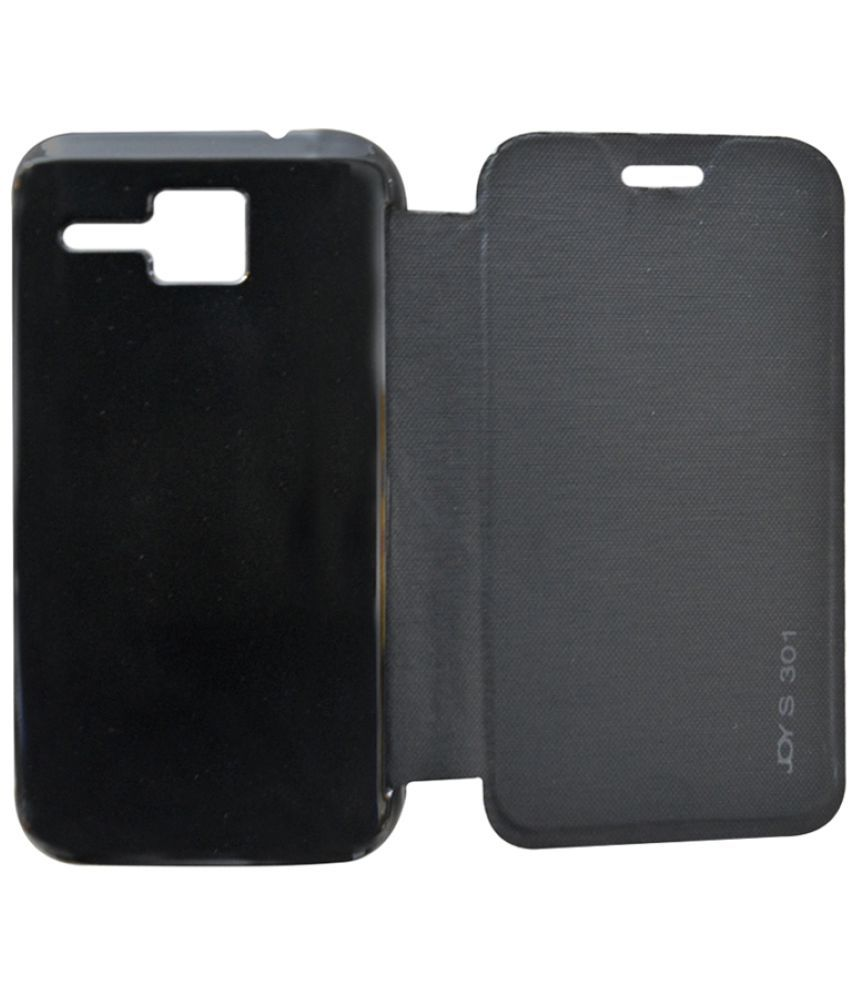 newest 236dc 2c572 Micromax Bolt S301 Flip Cover by Coverage - Black