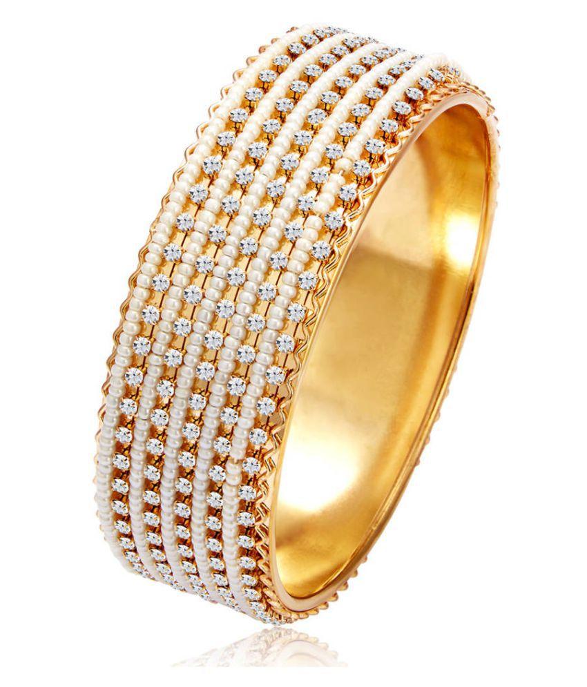 OS Jewellers Delightful 22Kt Gold Plated Kada