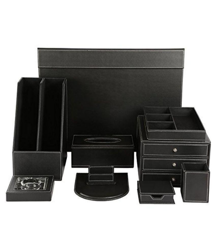 Artikle Leather Co Office Desk Organizer Set