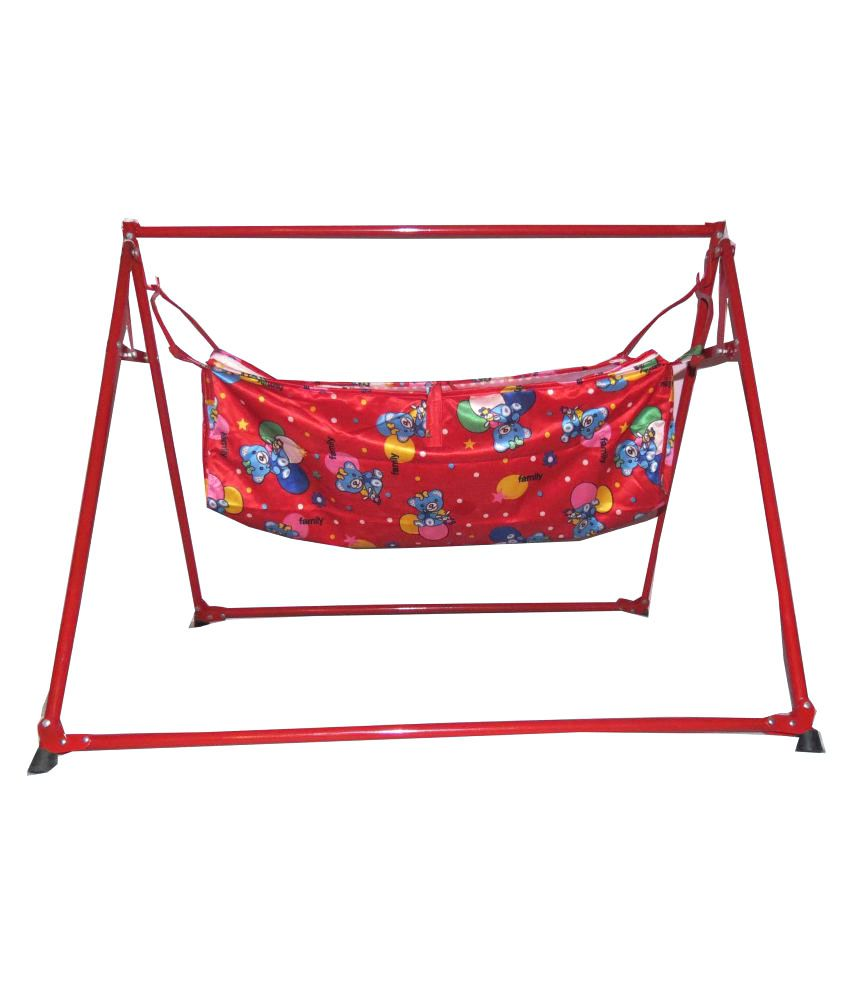 A And Products Red Folding Baby Cradle