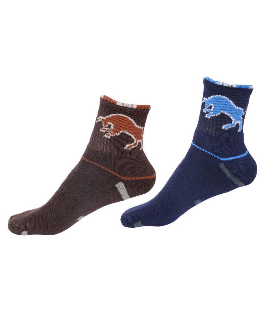 Indiweaves Multi Casual Mid Length Socks