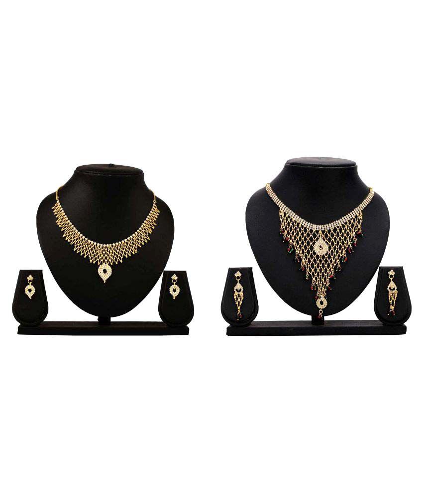 Dealseven Fashion Golden Alloy Necklack Set Combo
