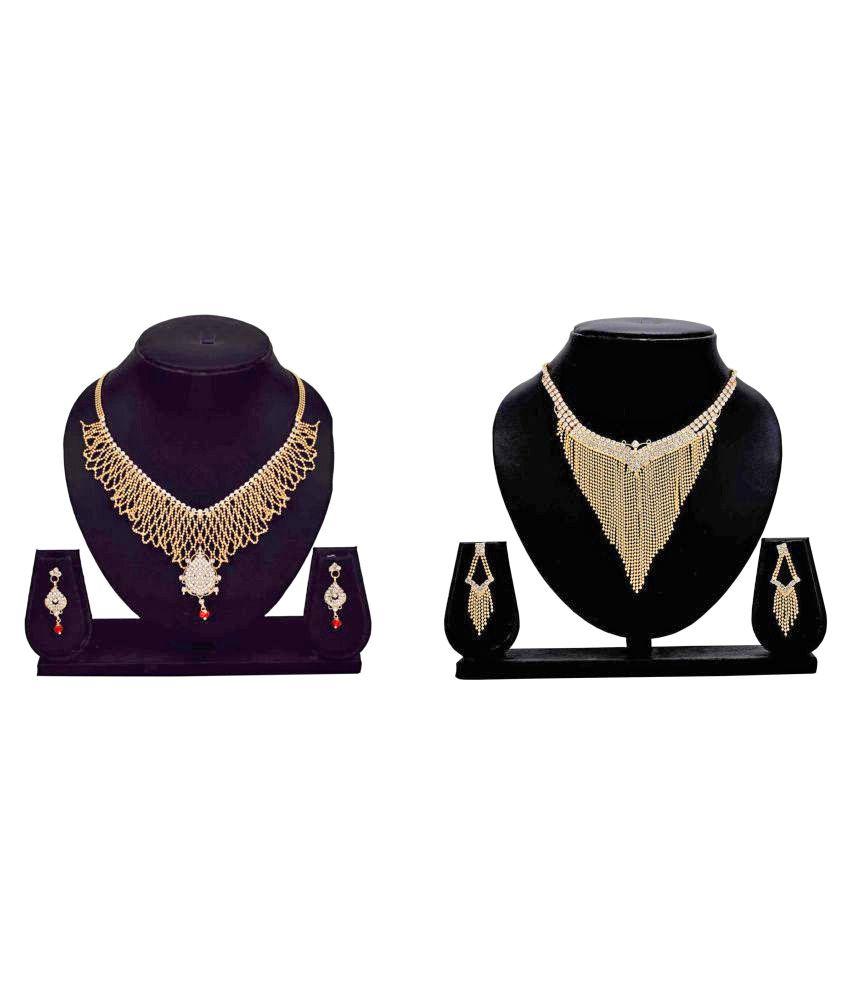 Dealseven Fashion Multicolour Alloy Necklace Set Combo