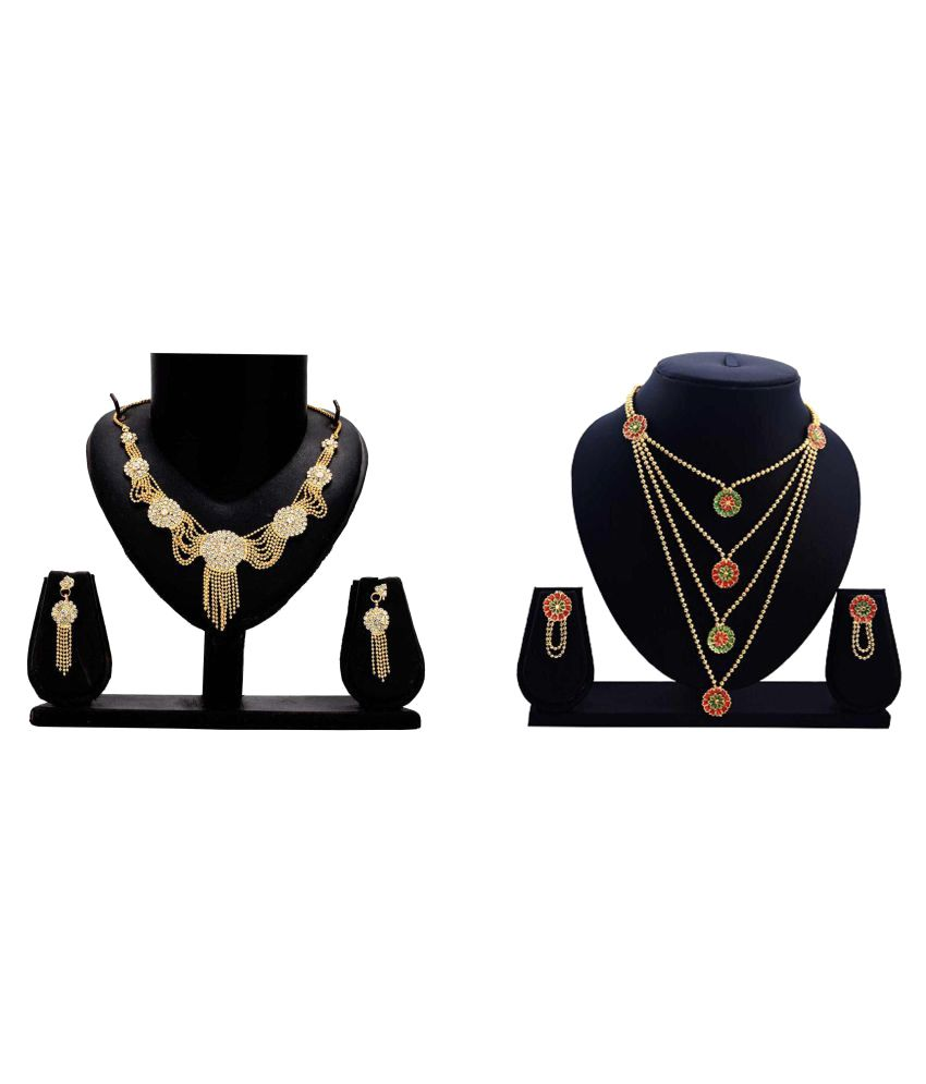 Dealseven Fashion Presents Multicolor Alloy Necklace Set Combo