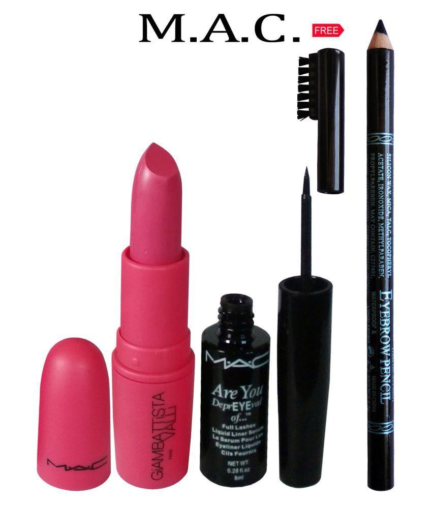 Mac Liquid Eyeliner Lipstick 3 G Free Eyebrow Pencil 8 Ml Buy Mac