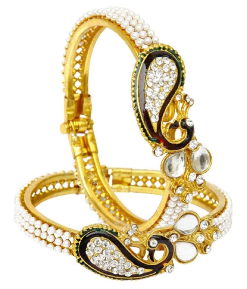 JDX Golden Alloy Bracelet - Set of 2